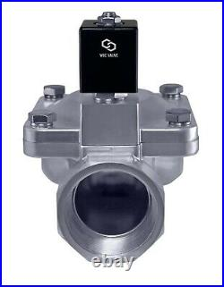 Stainless High Pressure 230 PSI Electric Solenoid Process Valve 2 Inch 12V DC NC