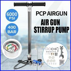 Updated Diving High Pressure Hand Air pump Oxygen Tank Inflator+Pressure Gauge