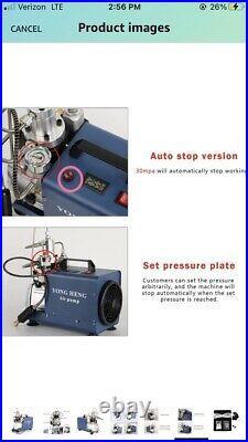 YONGHENG High Pressure Air Compressor Pump, 4500PSI Paintball Fill Station